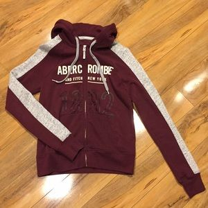 Size small Abercrombie and Fitch zip up hoodie